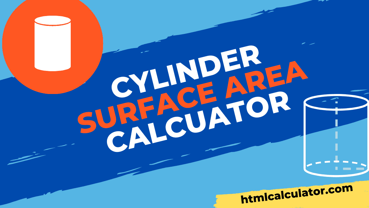 cylinder surface area calculator