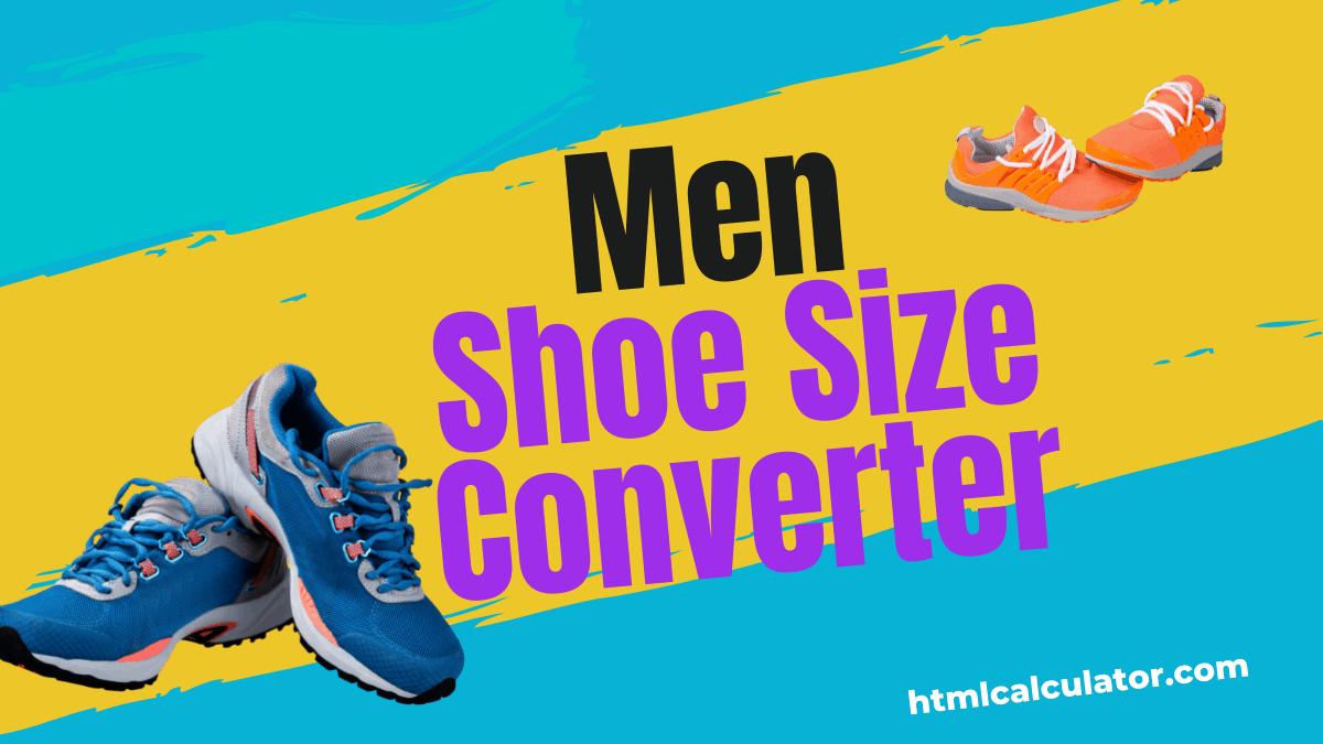 men shoe size converter
