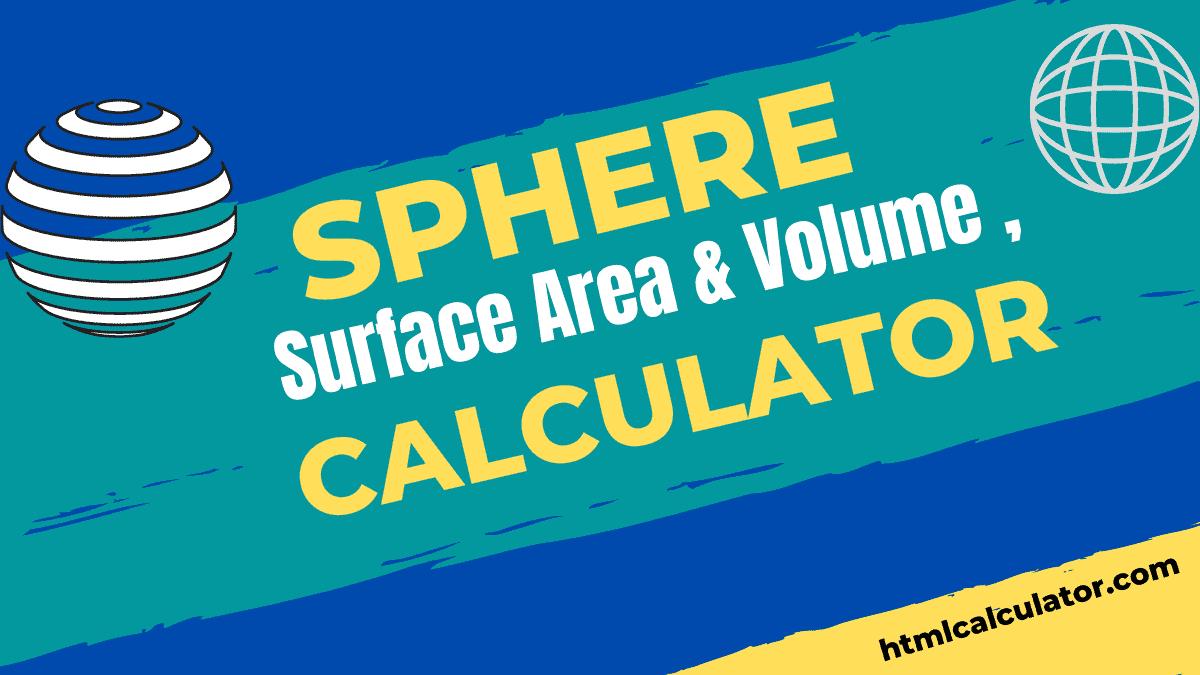 sphere surface area calculator